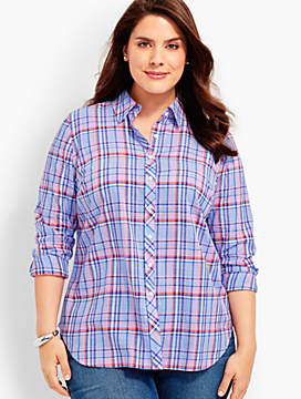 The Classic Casual Shirt - Cafe Plaid