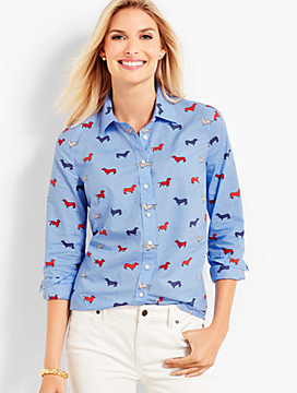 The Classic Casual Shirt - Dachshund Print