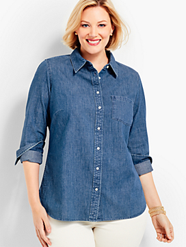 The Classic Denim Shirt - Rhine Wash