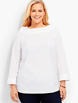 Portrait-Collar Shirt