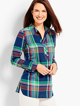 The Classic Casual Popover - Dune Plaid