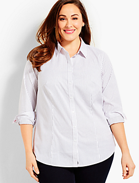 Womans Exclusive The Longer-Length Long-Sleeve Shirt - Revere Dots