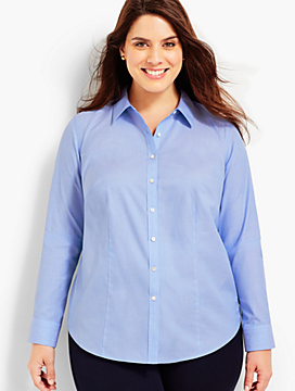 Womans Exclusive The Longer-Length Long-Sleeve Shirt - End-On-End