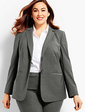 Seasonless Wool Double-Button Blazer