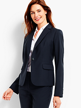 Seasonless Wool Single-Button Blazer