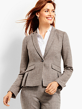 Luxe Tweed Single-Button Jacket