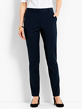 Seasonless Wool High-Waist Slim-Leg Pant