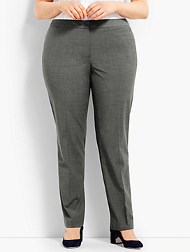 Womans Exclusive Seasonless Wool Straight Leg Trouser