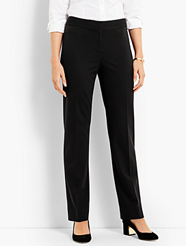 Luxe Knit Straight-Leg Pant