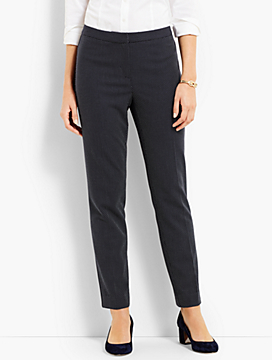 Textured Dot Slim Ankle Pant