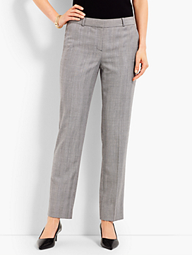 Shadow Herringbone Ankle Pant
