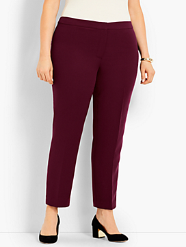 Womans Exclusive Seasonless Crepe Tapered-Leg Pant