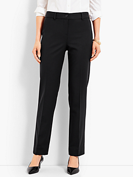 Luxe Twill Straight-Leg Pant