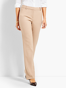 Luxe Wool Cashmere Flannel Full-Length Trouser