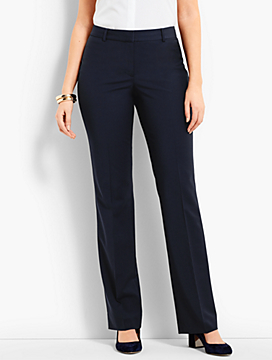 Seasonless Wool Subtle Bootcut Trouser - Curvy Fit