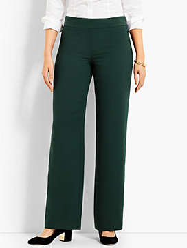 Seasonless Crepe Wide-Leg Pant - Curvy Fit