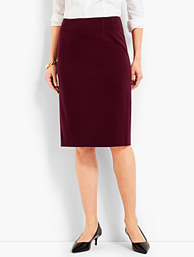 Luxe Knit Pencil Skirt