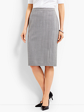 Shadow Herringbone Pencil Skirt