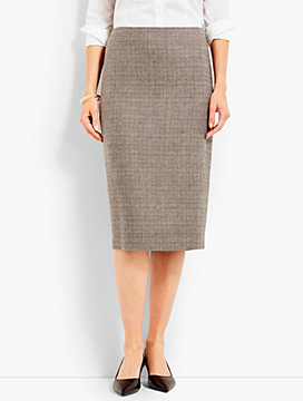 Luxe Tweed Pencil Skirt