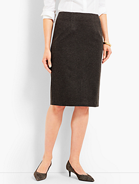 Luxe Herringbone Knit Pencil Skirt