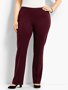 Womans Exclusive Luxe Knit Trouser Pant