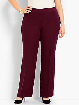 Womans Exclusive Seasonless Crepe Wide-Leg Pant