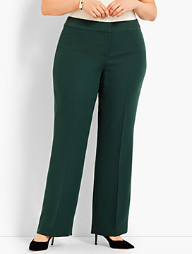 Womans Exclusive Seasonless Crepe Wide-Leg Pant - Curvy Fit