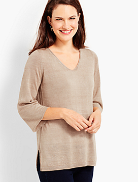 Double-V Tie-Back Pullover