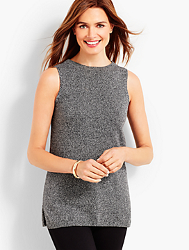 Marled Sleeveless Sweater Shell