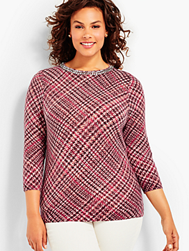 Cashmere Glenn Plaid Sweater