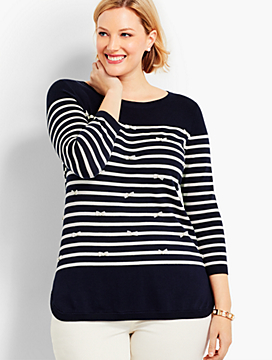 Bows & Stripes Sweater