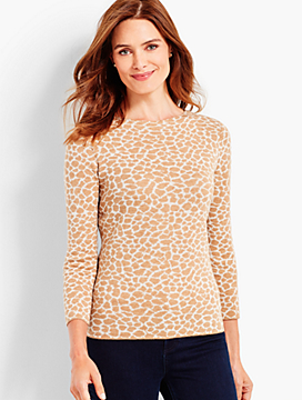 Merino Animal-Print Audrey