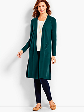 Merino Wool Long No-Close Duster