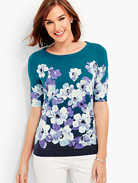 Painted-Flowers Sweater