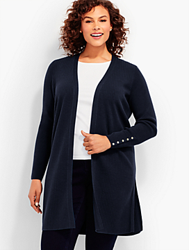 Woman Exclusive Ribbed Duster Cardigan