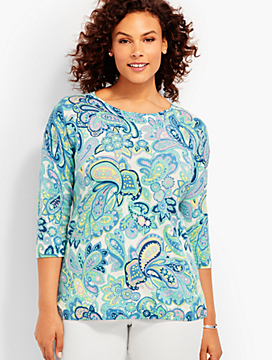Paisley Soiree Sweater
