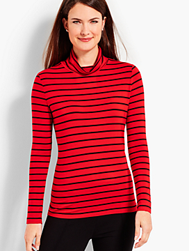Therma-Warmth Stripe Turtleneck