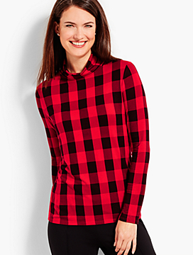 Therma-Warmth Buffalo Check Turtleneck