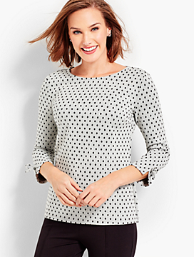Polka Dot Sparkle Top