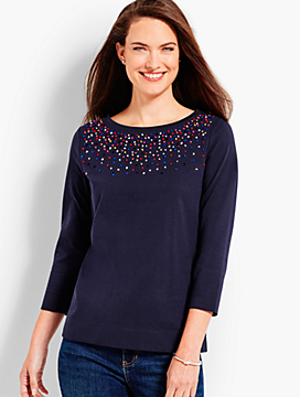 French Knot Confetti Pullover