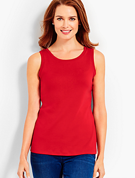 Double Scoop-Neck Pima Tank