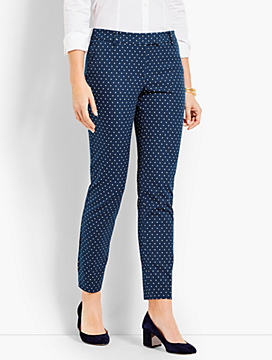Mini Dot Straight Ankle Pant