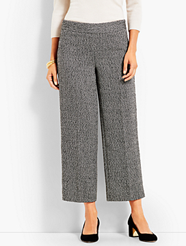 Herringbone Wide-Leg Crop