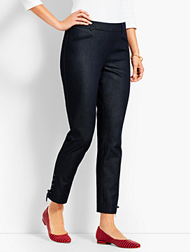 Polished Denim Slim Ankle