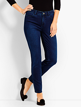 Piped Denim Jegging Ankle - Deep Azure