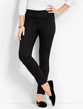 Luxe Stretch Denim Pull-On Jegging - Black