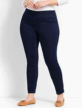 Womans Exclusive Luxe Stretch Denim Pull-On Jegging - Spindrift Wash