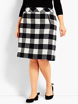 Fuzzy Buffalo Plaid Skirt