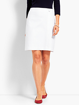 Canvas Faux-Wrap Skirt