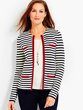 Stripe Sweater Jacket